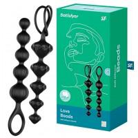 Набор анальных цепочек Satisfyer Love Beads, черные