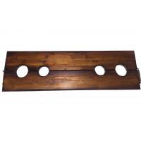 Деревянная колодка с четырьмя отверстиями