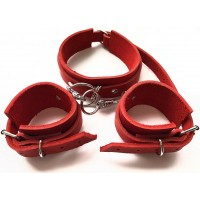 Дизайнерский комплект ошейник + наручники ручной работы