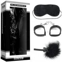 Набор Deluxe Bondage Kit (наручники тиклер маска на глаза)