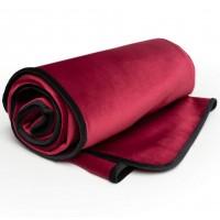 Влагоотталкивающее одеяло из микро-вельвета Liberator Fascinator Throw Travel Size бордовое