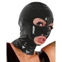 Латексная маска для головы черная