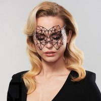 Маска маскарадная самоклеющаяся Bijoux Kristine черная