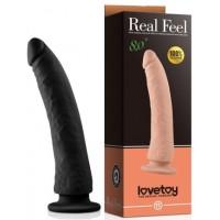Черный фаллоимитатор Real Feel 20,3 см