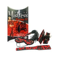 Бондажный набор Mistress Bondage красный леопард