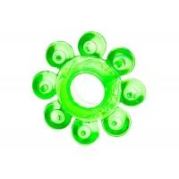 Тянущееся зеленое кольцо с массажными шариками