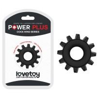 Эрекционное черное кольцо Power Plus Coock Ring