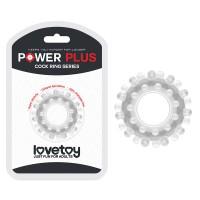Прозрачное эрекционное кольцо Power Plus Cock Ring