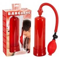 Помпа для пениса Bang Bang красная