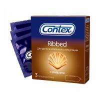 Презервативы Contex №3 Ribbed с ребрами