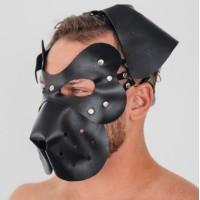 Кожаная маска собаки Пёс