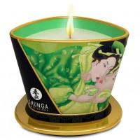 Массажное аромамасло Shunga Exotic Green Tea c ароматом зеленого чая 170 мл