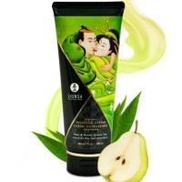 Съедобный массажный крем Shunga Pear & Exotic Green Tea со вкусом груши и зеленого чая 200 мл