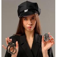 Карнавальный набор Секс-полиция - кепка, наручники, брошь