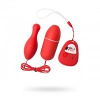 Красное виброяйцо и вибропуля с дистанционным управлением и 5 режимами вибрации