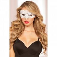 Ажурная белая маска на глаза