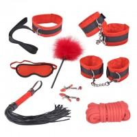 Красный бондажный набор Taboo Accessories Extreme Set №5