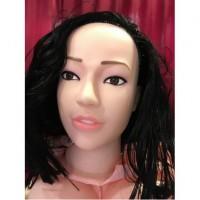 Кукла брюнетка для секса с вибрацией 3D Face Love Doll