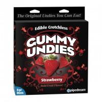 Съедобные трусики для мужчин Male Gummy Undies Strawberry