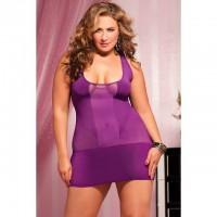 Фиолетовое короткое платье