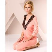 Ночная пижама персикового цвета M