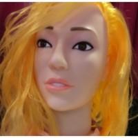 Кукла блондинка для секса с вибрацией 3D Face Love Doll