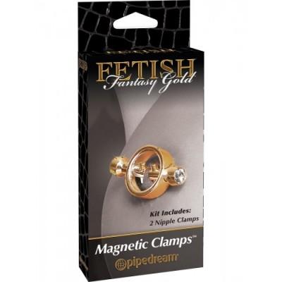 Зажимы для сосков FF Gold Magnetic Clamps