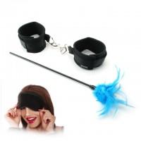 Набор из наручников маски и перышка Sensual Seduction