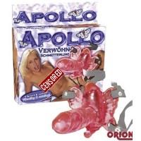 Клиторальный стимулятор с вращением Вибро Apollo розовый