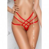 Стринги из тонких красных лент Страстная рабыня Aisha L/XL
